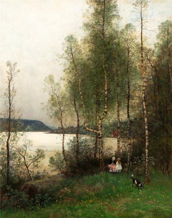 Автор картины – шведский художник Оскар Терна (Oscar Torna).