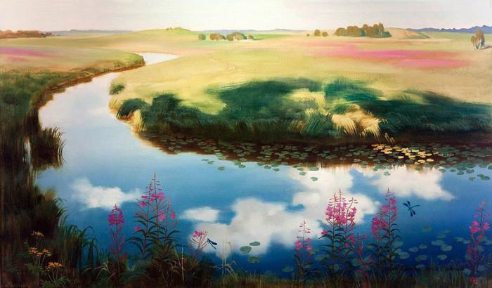 Автор картины – русский художник-живописец Бехова Юлия Олеговна.