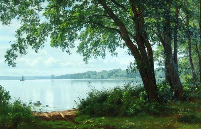 Автор картины – датский художник-живописец Вильгельм Грот (Vilhelm Groth).