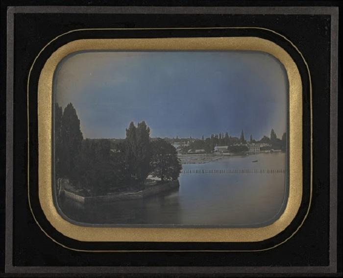 Вид на водоем Женевы, 1847 год.