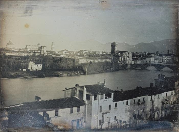 Вид на самый древний арочный мост Европы, 1845 год.
