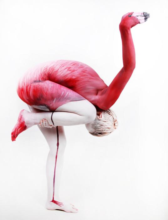 Любимая тема Джесин Марведел- чудесные природные формы, которые она создает с помощью своего мастерства на живом холсте.