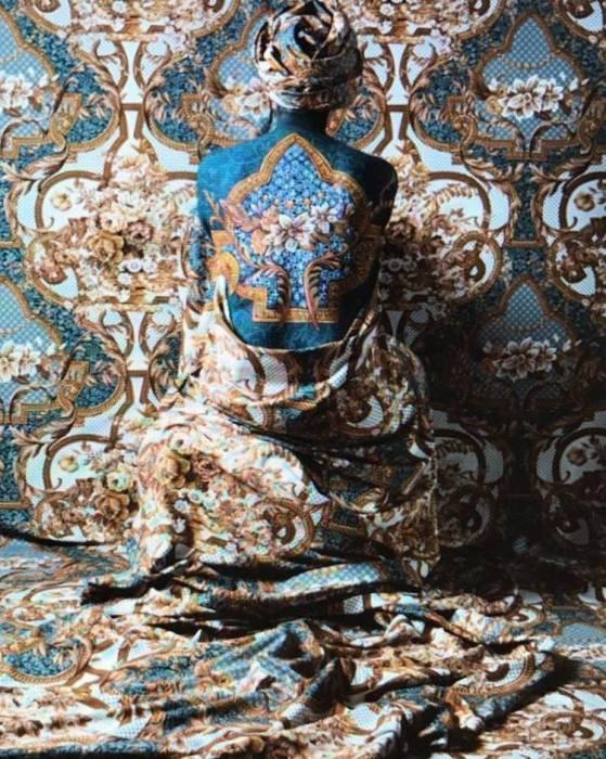Венесуэльская художница Сесилия Паредес (Cecilia Paredes) широко известна своим особым стилем – раскрашивая тело узорами, она мастерски вписывает моделей в интерьер.