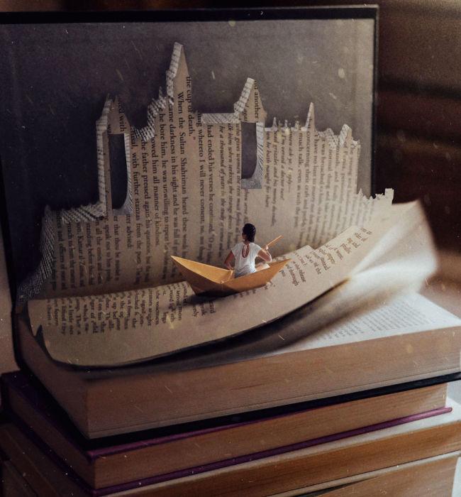Читая книгу, можно путешествовать вместе с главным героем.