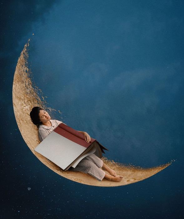 Читая книжки на ночь, можно увидеть нереальные сны.