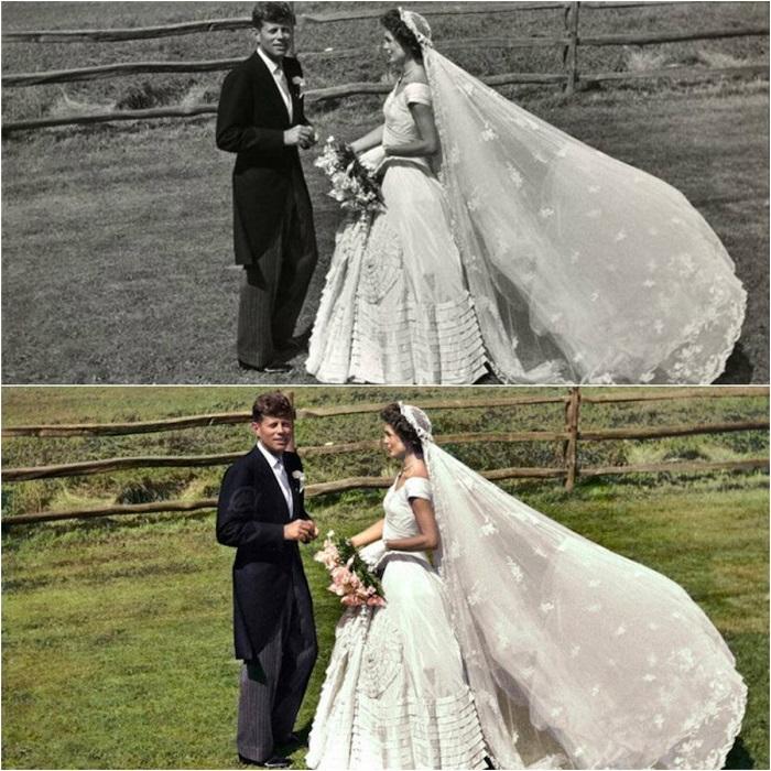 Платье Жаклин считается одним из самых знаменитых подвенечных нарядов в истории.