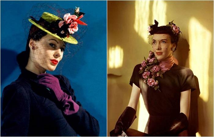 Женская мода начала 1940-х годов.