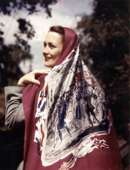 Шелковый платок с рисунком художника-экспрессиониста Феликса Топольски (Felix Topolski).