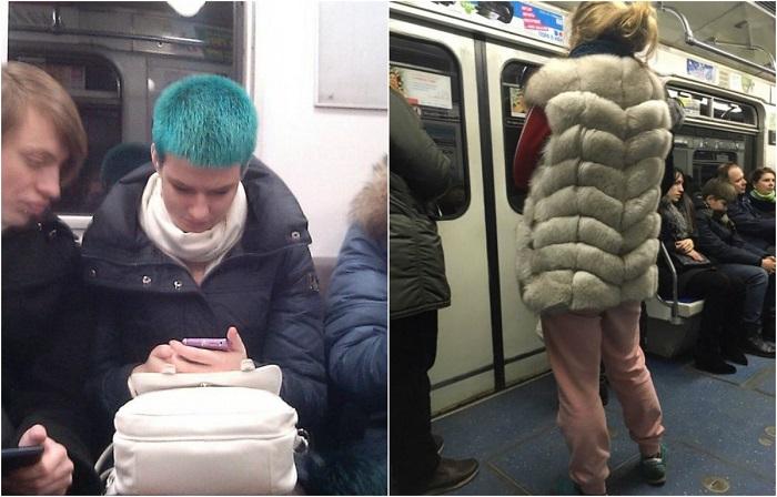 Люди в московском метро.