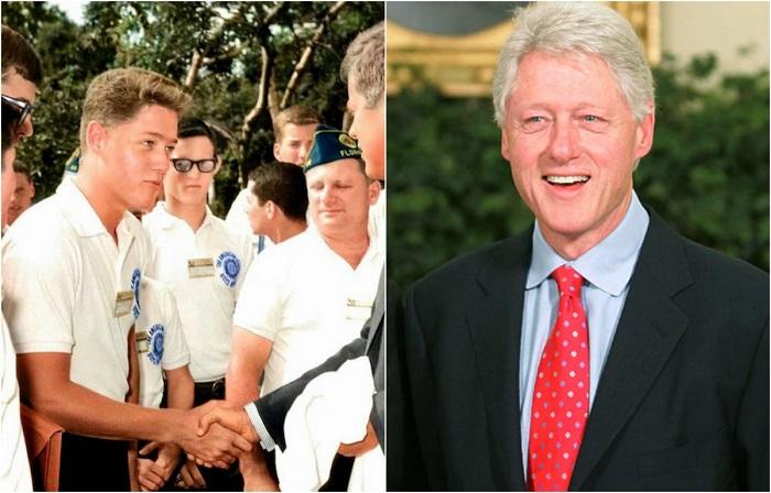 Молодой Билл Клинтон пожимает руку Джону Кеннеди, который находился на посту президента с 1961 по 1963 года.