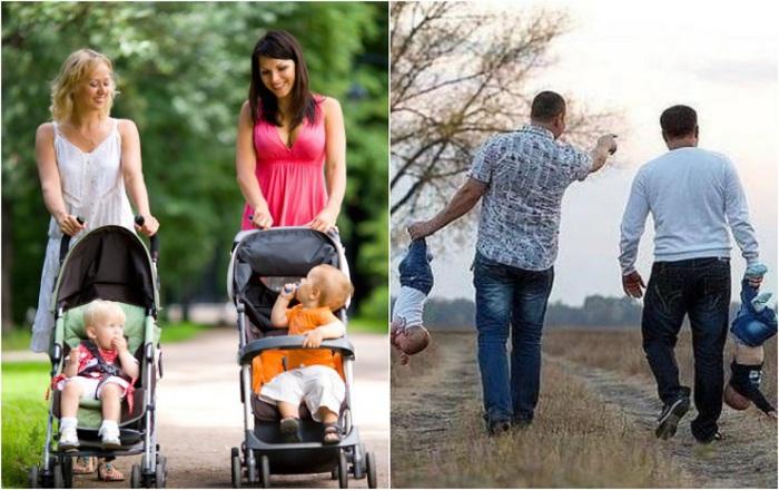 Взгляд родителей на детей при разговоре с друзьями.