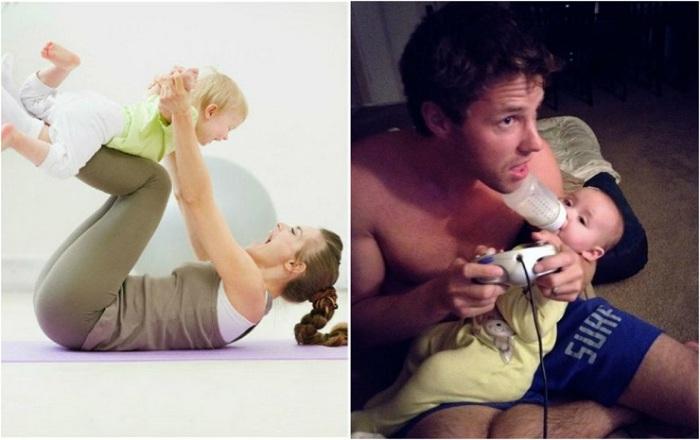 Как оба родителя уделяют свободное время ребёнку.