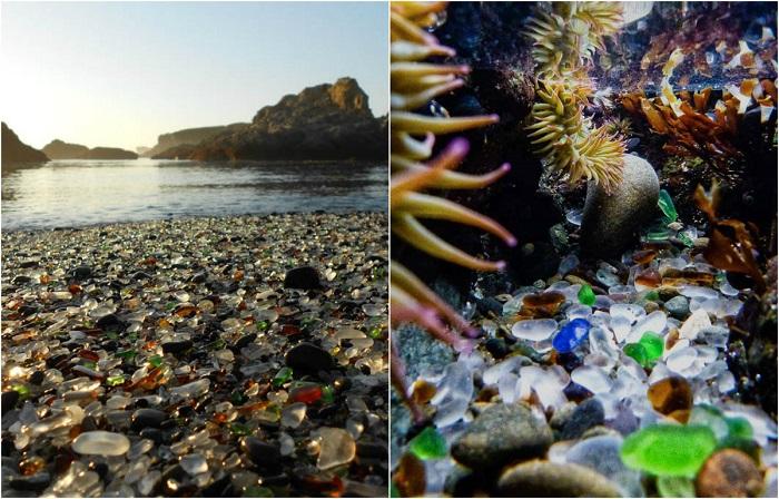 Достопримечательностью города является стеклянный пляж из разноцветных осколков стекла, которые полировались волнами в течение 20 лет.