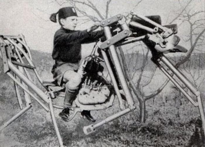 Мотолошадь, полезна для обучения верховой езде, (Италия, 1933 год).