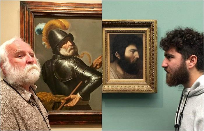 Обычные люди, которые нашли в музеях старинные портреты своих двойников.