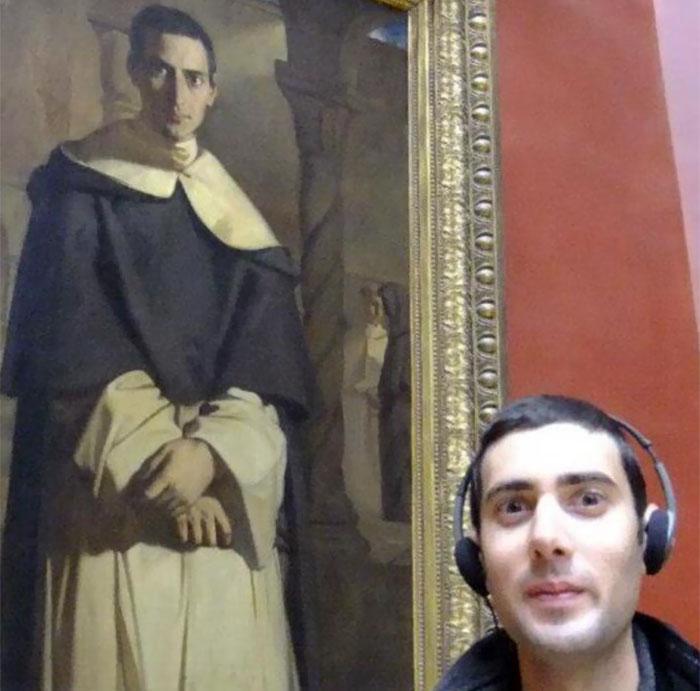Автор картины «Преподобный отец Доминик Лакордейр» (1840 год) - французкий художник Теодор Шассерио (Thеodore Chassеriau).