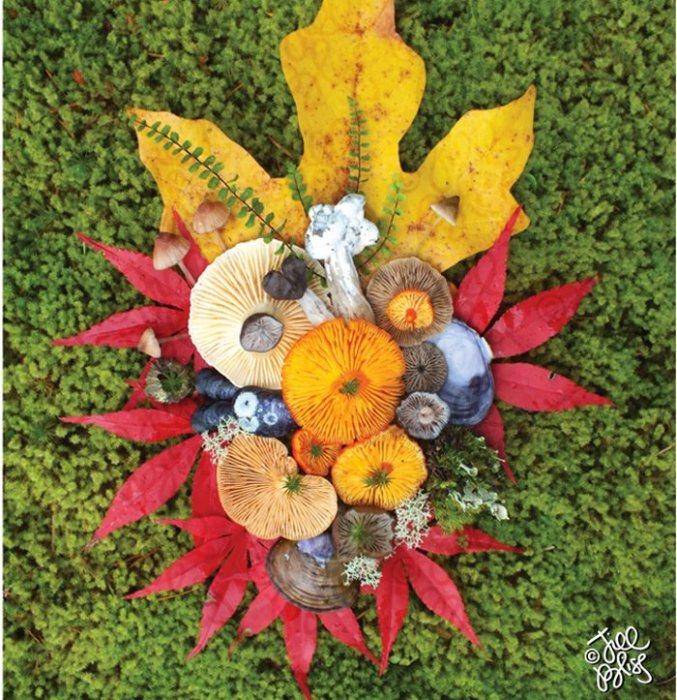 В зависимости от времени года изменяются и цвета материалов, используемых для натюрмортов.