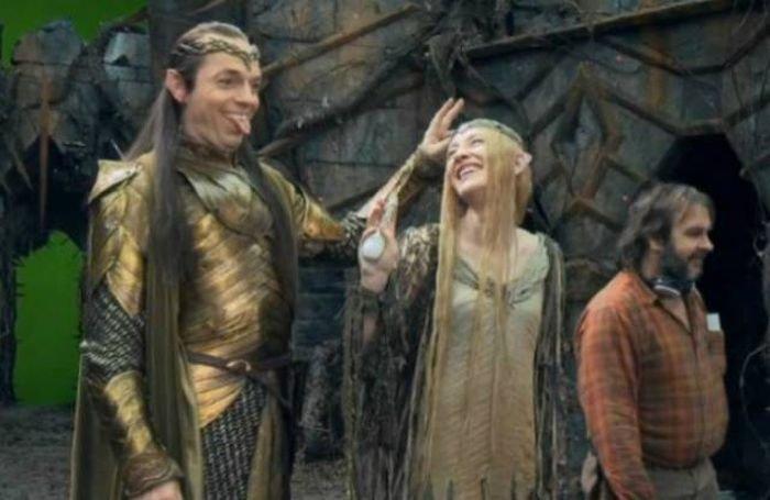 За кадром фильма можно покривляться даже серьезному Элронду - эльфийскому правителю Ривенделла.