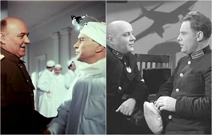 Как в театре, так и в кино актер играл характерных и героических персонажей, к примеру, генерала Исаченко.