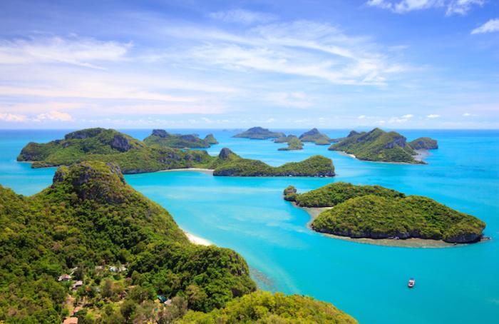 Морской национальный парк, состоящий из 42 островов, название переводится как: чаша золота.