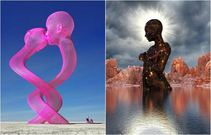 Удивительные цифровые 3D-скульптуры.