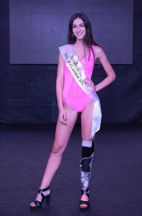 18-летняя модель заняла третье место в конкурсе красоты «Мисс Италия» 2018.