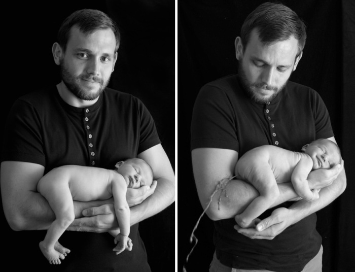Отец приготовился позировать для первого профессионального снимка со своим ребёнком, но тут случилось...
