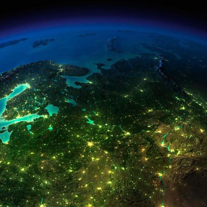 Ночная жизнь планеты: вид из космоса.