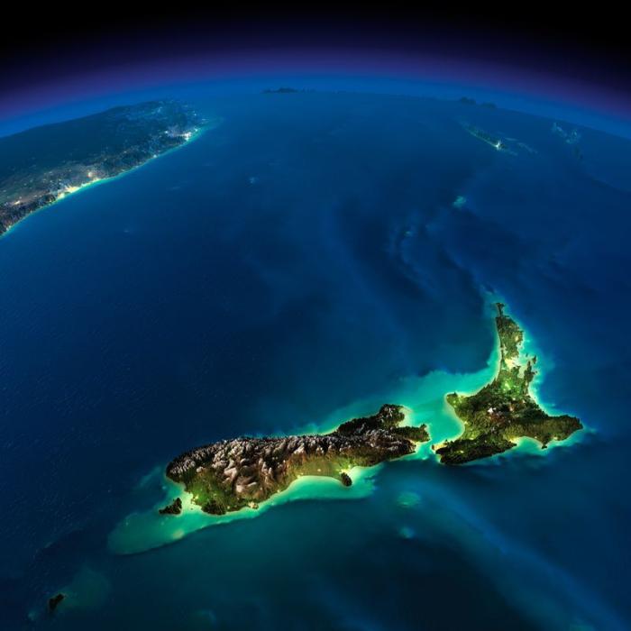 Над Новой Зеландией сгустилась прекрасная ночь.
