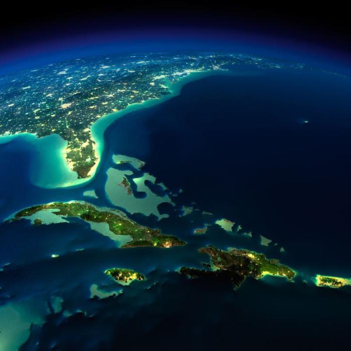 Всю эту красоту можно по достоинству оценить лишь из космоса.