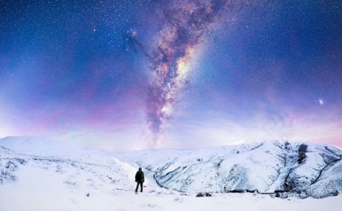 Созерцание звезд в Новой Зеландии.
