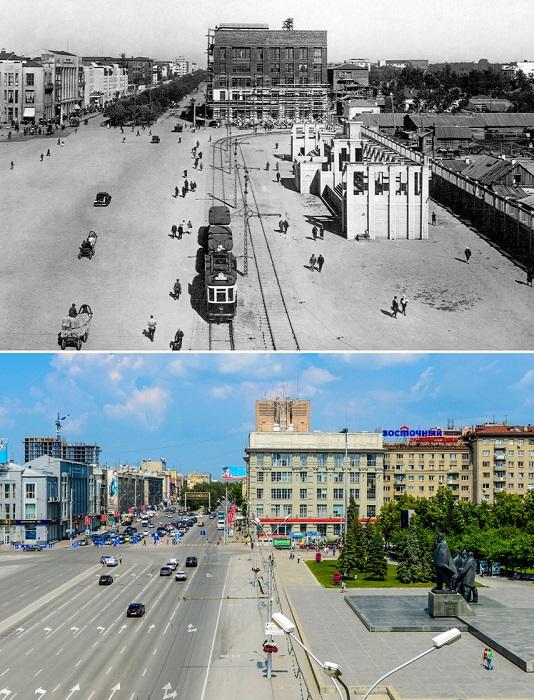 В 1960-е годы в северо-западный угол площади пришла Вокзальная магистраль.
