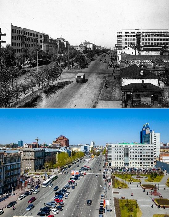 Архитектурный ансамбль площади по проекту архитектора А.Д. Крячкова.