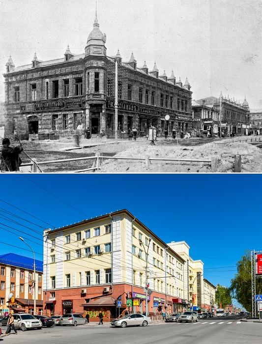 Дом на углу улицы Гудимовская и Николаевского проспекта в Новониколаевске, был построен в 1908–1909 годах.