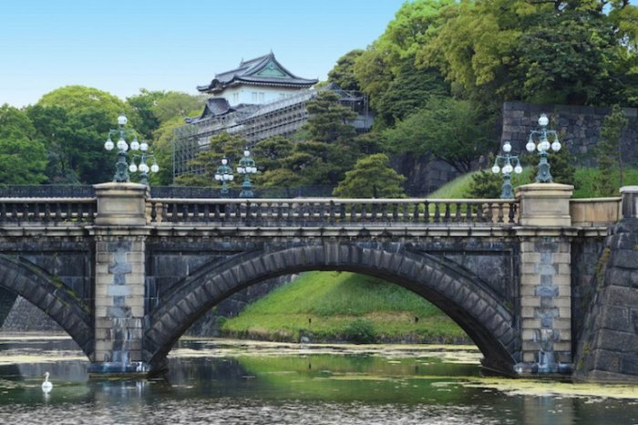 Токийский дворец является официальной резиденцией  императора и главной городской достопримечательностью Японии.