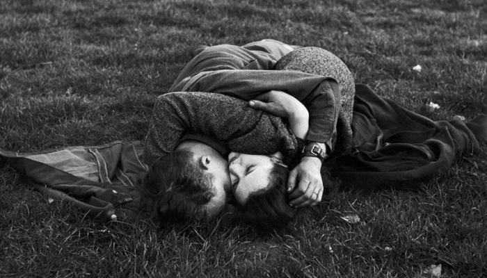 Поцелуи в военные годы.