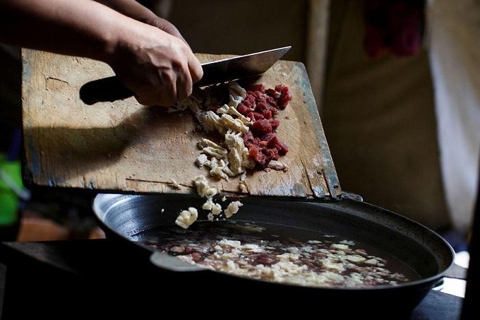 Национальное блюдо коренного населения Монголии.