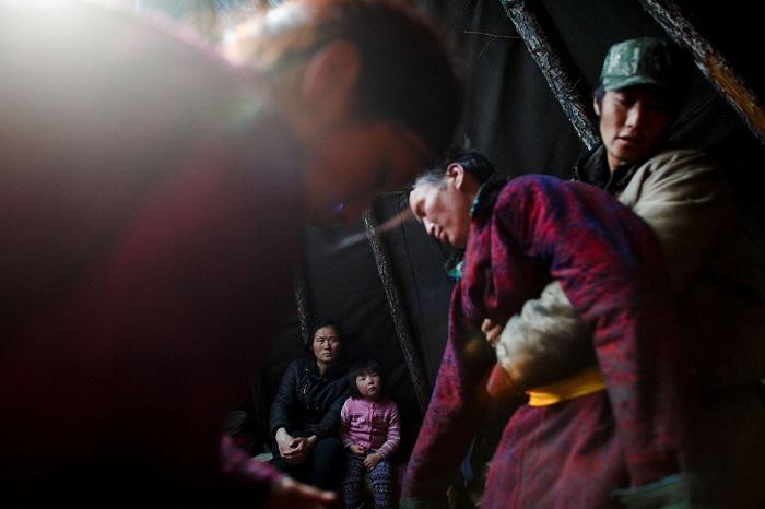 Оленеводы-кочевники исповедуют шаманизм и верят, что духи их предков продолжают жить в лесу.