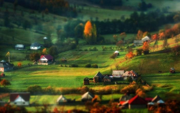 Колоритные осенние пейзажи Румынии.