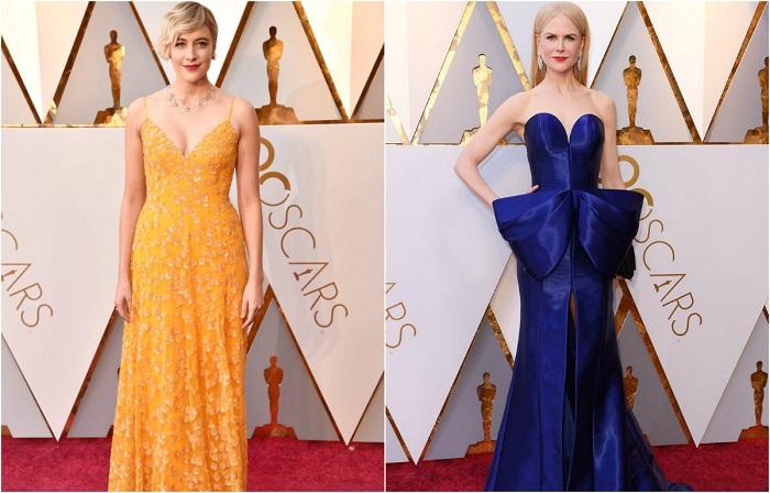 Самые интересные наряды звезд на юбилейной церемонии «Оскар 2018».