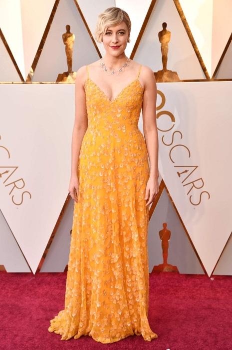 560bcaf0d0e Американская актриса для выхода на красную дорожку выбрала желтое платье в  пол
