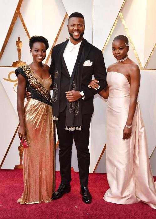 Элегантное и стильное трио актеров из фильма «Черная Пантера».
