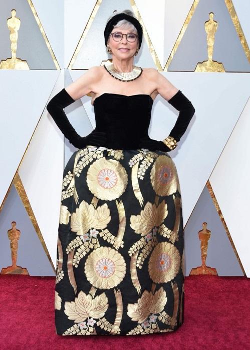 Американская актриса выбрала платье, в котором уже посещала церемонию «Оскар» в 1962 году.