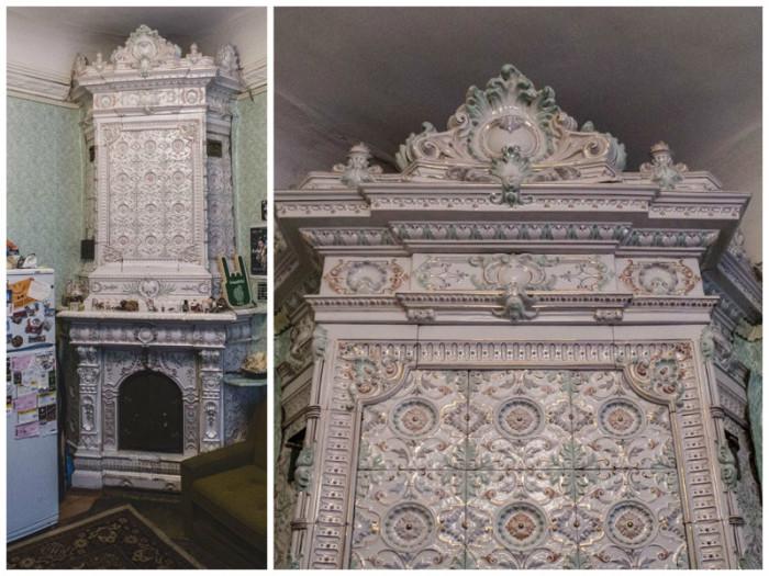 Старомодная (по меркам 1908 года) каминная печь.