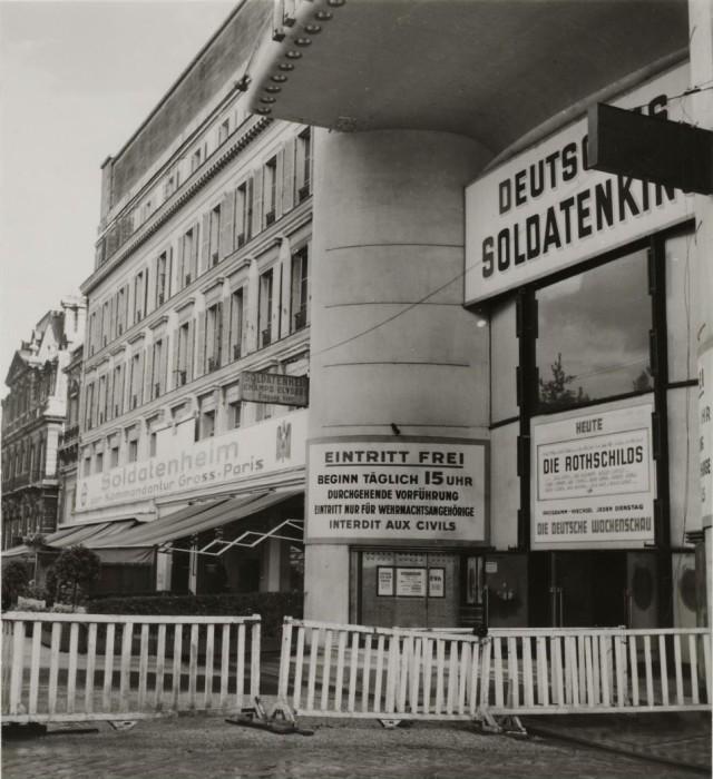Реквизированный для нужд немецкой армии кинотеатр.