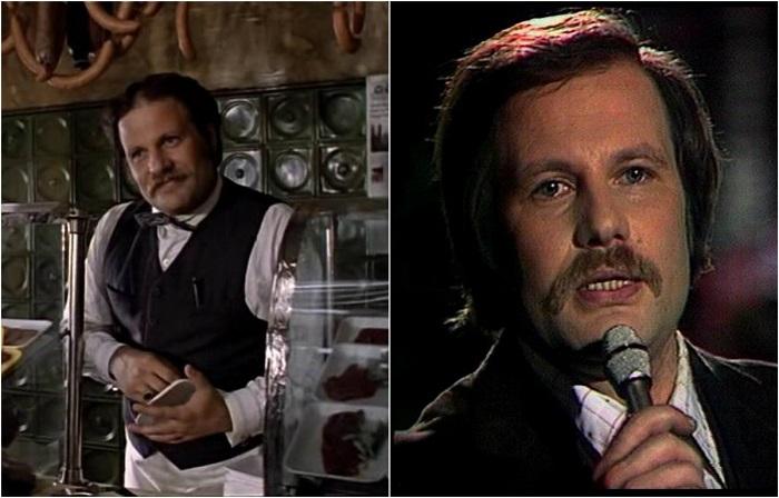 Российский певец, актёр сыграл небольшую роль мясника в фильме, которого главная героиня заставила запеть голосом оперного певца.