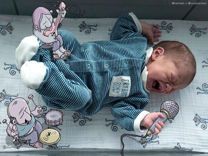 Кричащий малыш-это невыносимо. Вот как фотограф вышел из этой ситуации.