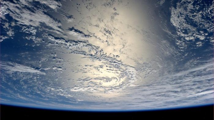 Красивый снимок Земли из космоса.