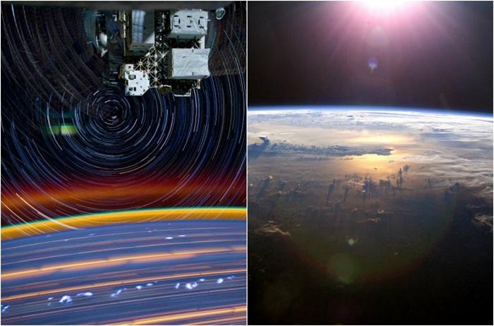 Снимки с борта МКС.