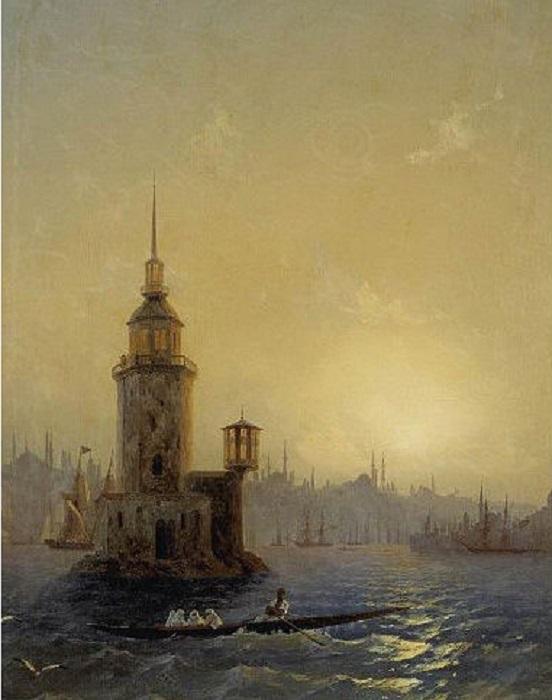 Картина всемирно известного русского художника-мариниста Ивана Константиновича Айвазовского. 1848 год.